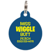 Navy Miss. Wiggle Butt Funny Pet ID Tag