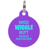 Purple Miss. Wiggle Butt Funny Dog ID Tag for Pets
