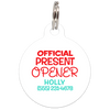 White Official Present Opener Funny Dog ID Tag for Pets