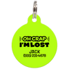 Lime Oh Crap I'm Lost Funny Pet ID Tag