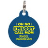 Navy Oh No I'm Lost Call Mom Funny Dog Id Tag