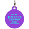 Purple Oh No I'm Lost Call Mom Funny Dog Id Tag