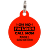 Red Oh No I'm Lost Call Mom Funny Pet Id Tag