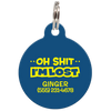 Navy Oh Shit I'm Lost Funny Pet ID Tag
