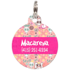 Fuchsia Funny Skull Personalized Dog ID Tag for Pets