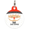 Santa Personalized Dog ID Tag for Pets