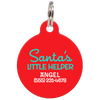 Red Santa's Little Helper Funny Dog ID Tag for Pets
