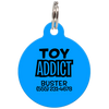 Blue Toy Addict Funny Dog ID Tag