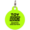 Lime Toy Addict Funny Pet ID Tag