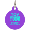 Purple Toy Addict Funny Dog ID Tag