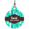 Christmas Trees Personalized Dog ID Tag for Pets