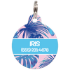 Blue Tropical Personalized Dog ID Tag for Pets