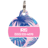 Pink Tropical Personalized Dog ID Tag for Pets