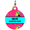 Blue Toucans Personalized Dog ID Tag for Pets