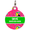 Green Toucans Personalized Dog ID Tag for Pets