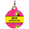 Yellow Toucans Personalized Dog ID Tag for Pets