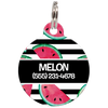 Black Watermelons Personalized Dog ID Tag for Pets