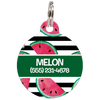 Green Watermelons Personalized Dog ID Tag for Pets