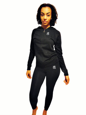 HBCU Fusion Zip Up Hoodie Legging Outfit