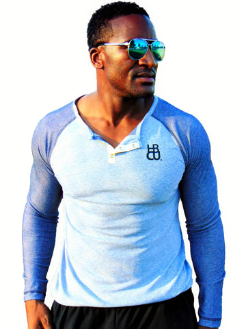 HBCU Fusion Long Sleeve Henley 4 colors