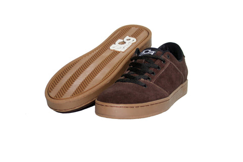 Sound,suede, chocolate with gum outsole