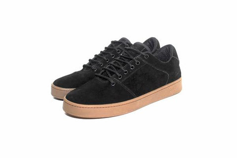 Sound,synthetic suede, black with gum outsole