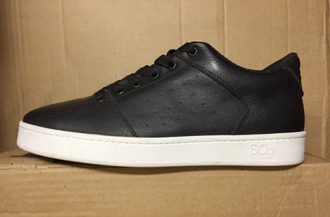 Sound,leather, black with white outsole