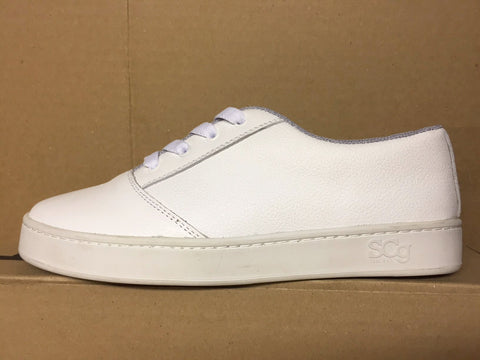 LoPro, leather, white with white outsole
