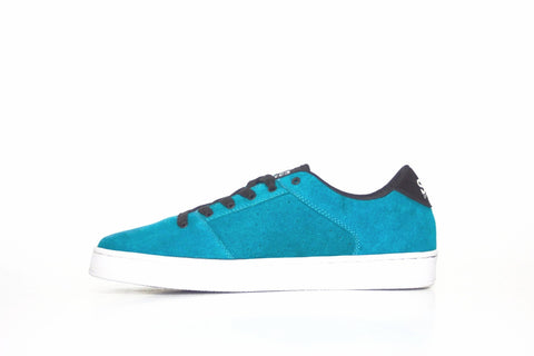 Sound,suede, turquoise with white outsole