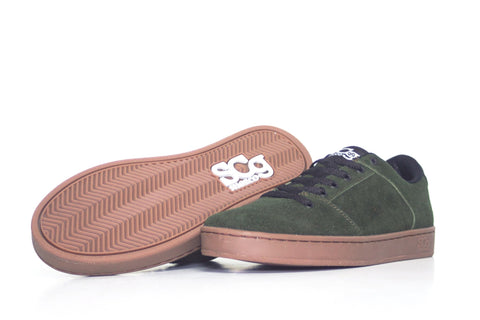 Sound,suede, forest green with gum outsole