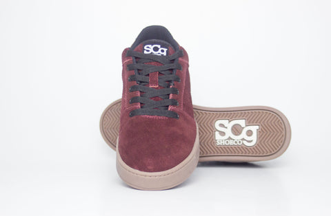 Sound, burgundy with gum outsole