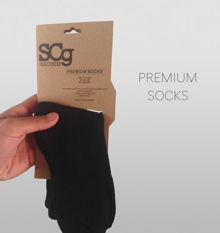 SCg premium socks, black with white logo