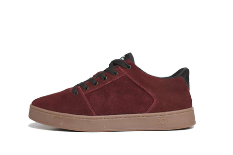 Sound,suede, burgundy with gum outsole