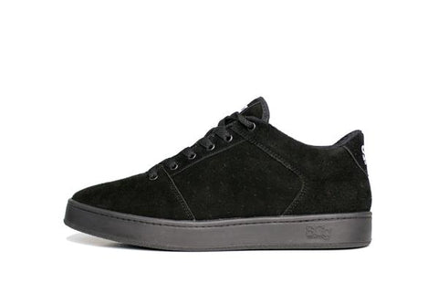 Sound,synthetic suede, black with black outsole