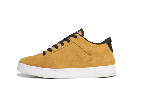 Sound,suede, butterscotch with white outsole