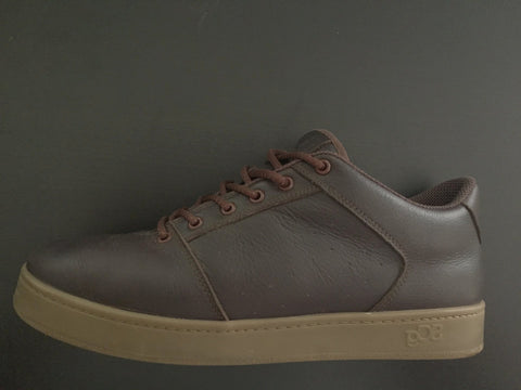 Sound,leather, chocolate with gum outsole