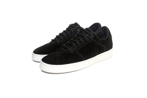 Sound,suede, black with white outsole