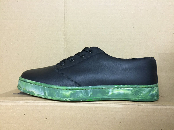 LoPro, leather, black with camo outsole