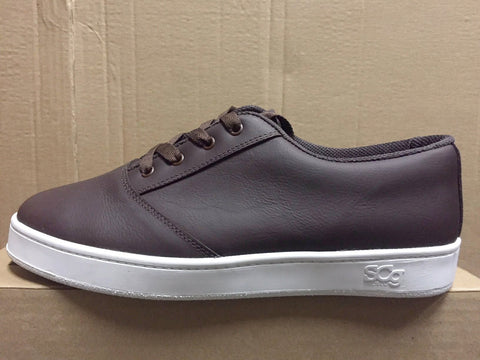 LoPro, leather, chocolate with white outsole
