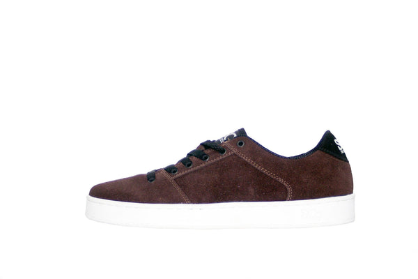 Sound,suede, chocolate with white outsole