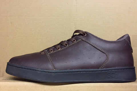 Sound,leather, chocolate with black outsole