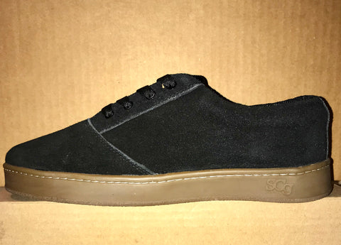 LoPro, suede, black with gum outsole