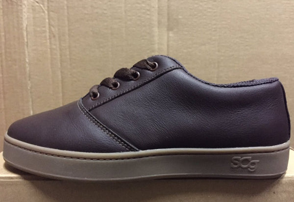 LoPro, leather, chocolate with gum outsole
