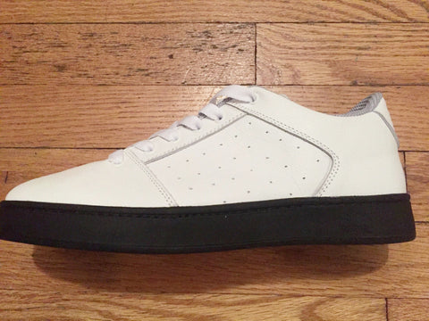 Sound,leather, white with black outsole