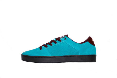 Sound,suede, turquoise with black outsole