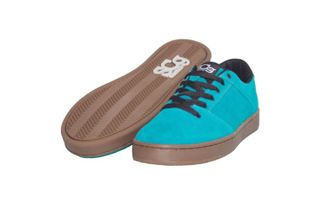 Sound,suede, turquoise with gum outsole