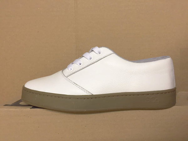 LoPro, leather, white with gum outsole