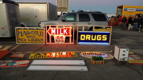 Neon Signs For Sale at the Chicagoland Coin Op Show