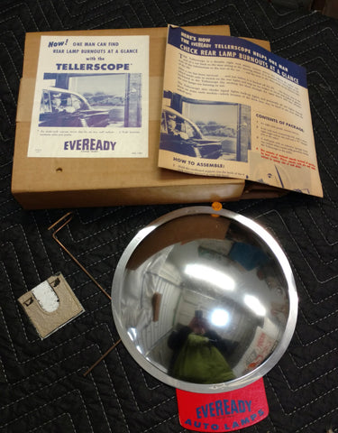 "Eveready Auto Light Bulbs ""Tellerscope"" NOS Gas Station Display - Old & Original"