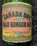 Canada Dry Pale Ginger Ale Bottle - Old & Original 1920's Bottle - New York, NY